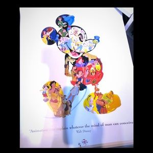 Collectors Disney 75 Years Lithograph Poster